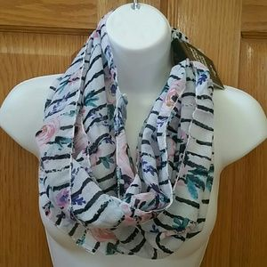 FREE W/$15 purchase: spring floral infinity scarf